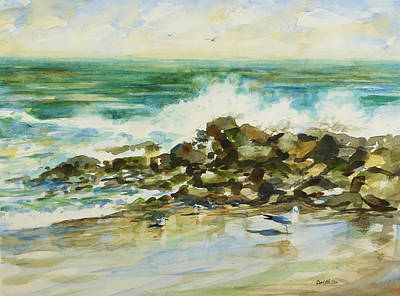 Painting - Breakers by Carl Whitten