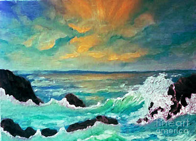 Painting - Breakers by Holly Martinson