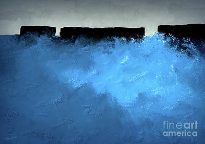 Painting - Breakers Of The Southern Ocean 2 by Tim Richards