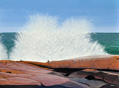 Painting - Breakers On Georgian Bay by Kenneth M Kirsch