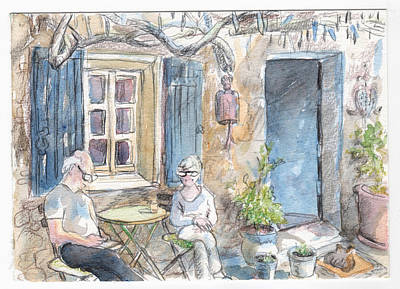Print featuring the painting Breakfast Al Fresco by Tilly Strauss