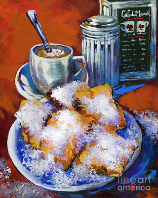 New Orleans French Quarter Wall Art - Painting - Breakfast At Cafe Du Monde by Dianne Parks