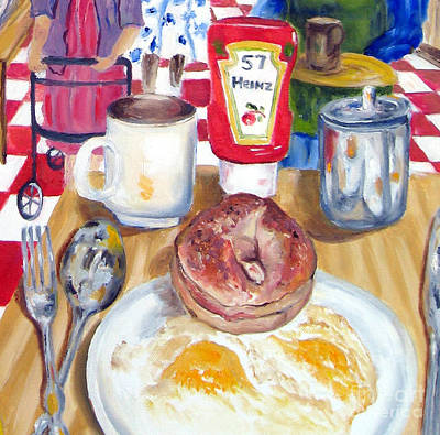 Painting - Breakfast At The Deli by Lisa Boyd