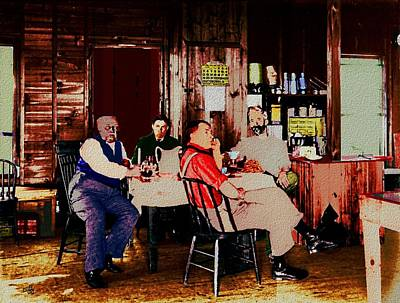 Cabin Interiors Digital Art - Breakfast At The Lodge by Cliff Wilson