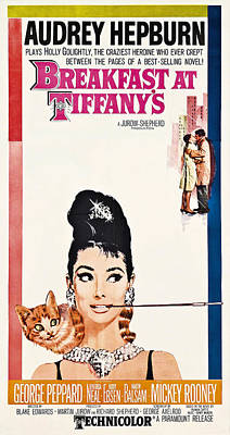 Blockbuster Photograph - Breakfast At Tiffany's 2 Vintage Lobby Poster  1961 by Daniel Hagerman