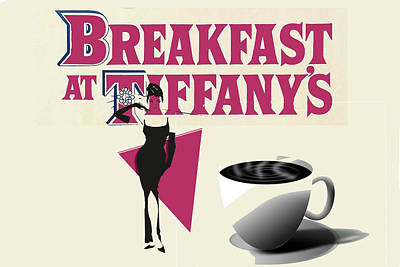 Digital Art - Breakfast At Tiffany's by Allen Beilschmidt