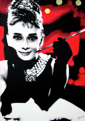 Actors Wall Art - Painting - Breakfast At Tiffany's by Hood alias Ludzska
