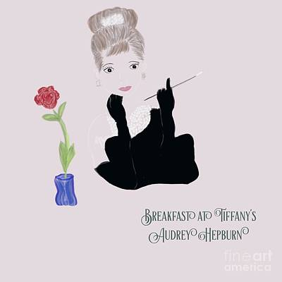 Photograph - Breakfast At Tiffany's Illustration by Susan Garren
