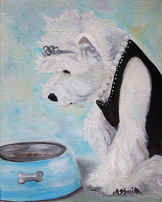 Terrier Painting - Breakfast At Tiffany's by Mary Sparrow
