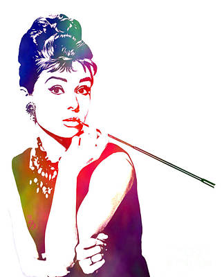 Actors Mixed Media - Breakfast At Tiffany's by The DigArtisT