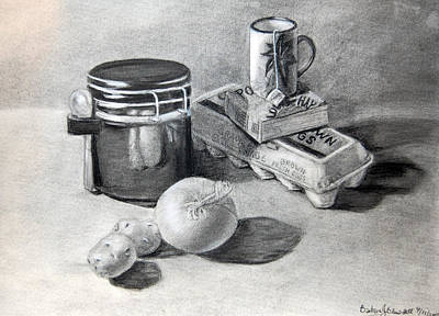 Drawing - Breakfast by Barbara J Blaisdell