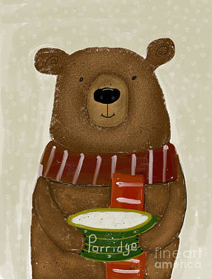 Porridge Painting - Breakfast For Bears by Bri B