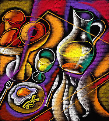 Color Image Painting - Breakfast by Leon Zernitsky