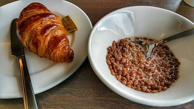 Photograph - Breakfast Of Cereal And Croissant by Yoursbyshores Isabella Shores