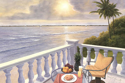 Breakfast On The Veranda Art Print