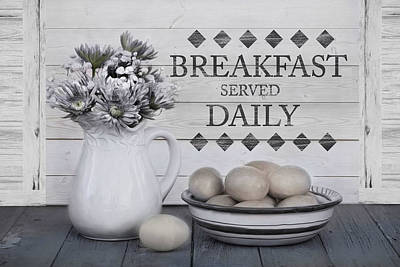 Photograph - Breakfast Served Daily by Robin-Lee Vieira