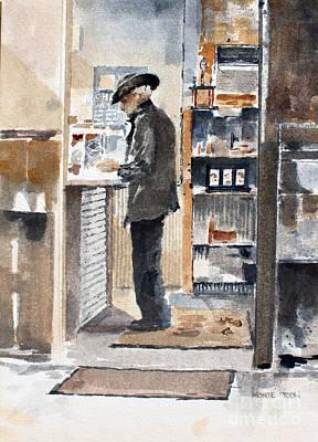 Painting - Breakfast Tab by Monte Toon