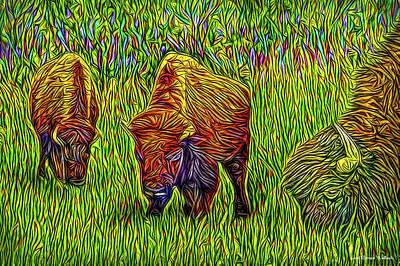 Digital Art - Breakfast With Buffalo by Joel Bruce Wallach