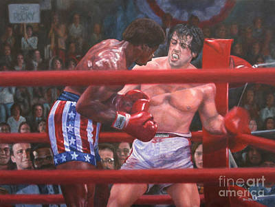 Stallone Painting - Breakin' Ribs - Rocky by Bill Pruitt
