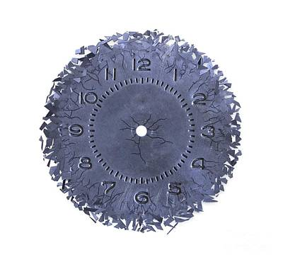 Breaking Apart Of The Old Clock Face Art Print by Michal Boubin