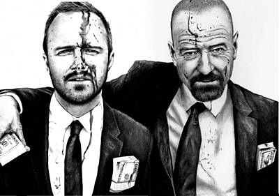 Drawing - Breaking Bad 2 by Rick Fortson