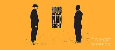 Breaking Bad - Amc - Heisenberg - Hiding In Plain Sight - Walter White - Silhoette Art Print by Paul Telling