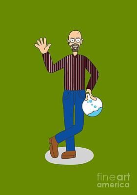 Breaking Bad Heisenberg Where's Walter Normally Dressed Amc Wheres Wally Parody Art Print by Paul Telling