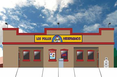 Breaking Bad - Los Pollos Hermanos Art Print by Troy Arthur Graphics