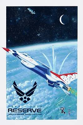 Air Force Wall Art - Painting - Breaking Barriers by Peter Ring Sr