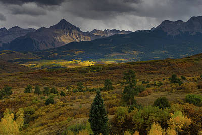 Photograph - Breaking Clouds Over Dallas Divide by Constance Reid