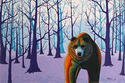 Breaking Cover - Hardwood Forest Grizzly Original by Joe  Triano