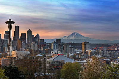 Pacific Northwest Photograph - Breaking Dawn In Seattle by David Gn