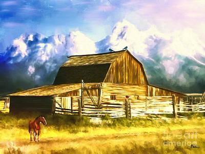 Teton Digital Art - Breaking Dawn by Tina LeCour