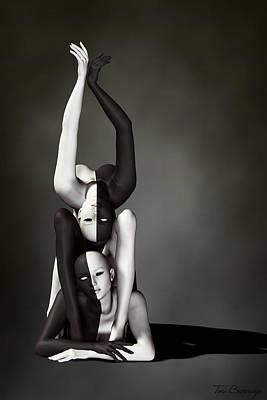Gymnasts Digital Art - Breaking Form by Tori Beveridge