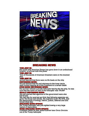 Digital Art - Breaking News by Joe  Palermo