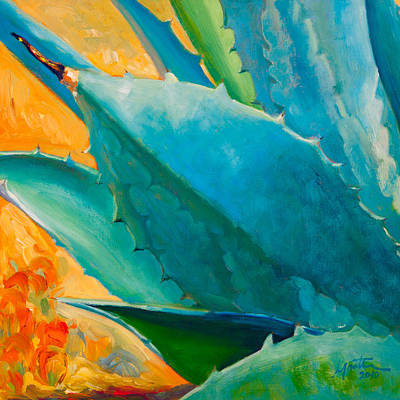 Agave Painting - Breaking Out by Athena  Mantle