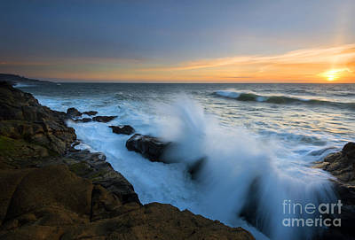 Breakers Photograph - Breaking Over by Mike Dawson