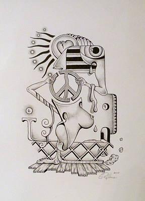 Breaking Peace  Art Print by Eric Rabbers