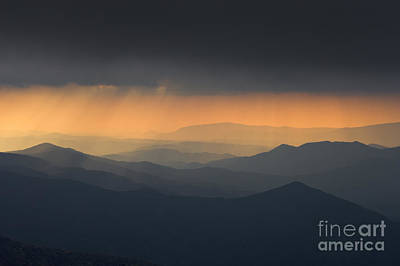 Photograph - Breaking Storm On The Cherohala - D009245 by Daniel Dempster