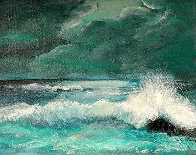 Painting - Breaking Storm by Shirley Lawing