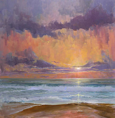Painting - Breaking Sunset by Timon Sloane