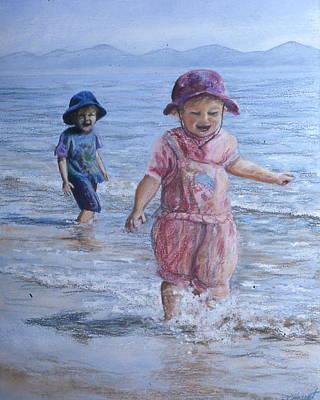 Breaking The Waves Art Print by Victoria Heryet
