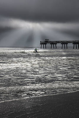 Photograph - Breaking Through On The Surf by Debra and Dave Vanderlaan