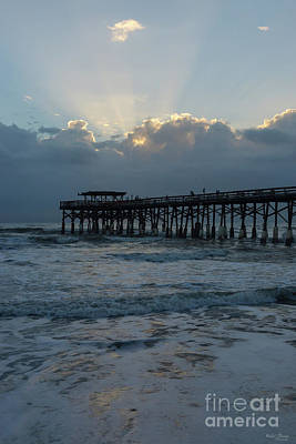 Photograph - Breaking Through Over Cocoa Pier by Jennifer White