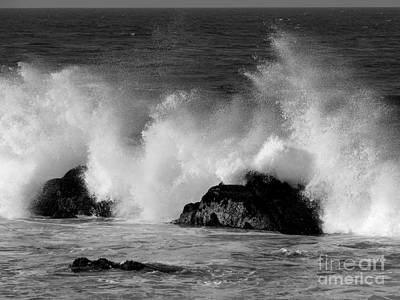 Photograph - Breaking Wave At Pacific Grove by James B Toy