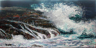 Painting - Breaking Wave by Michele A Loftus