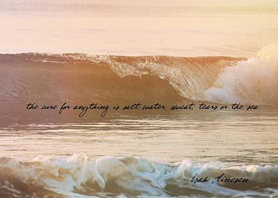 Photograph - Breaking Wave Quote by JAMART Photography