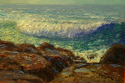 Painting - Breaking Wave by Terry Perham