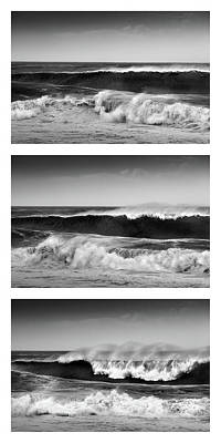 Photograph - Breaking Wave Triptych by Alexander Kunz