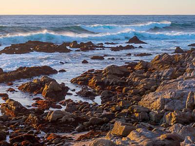 Photograph - Breaking Waves At Carmel Point by Derek Dean